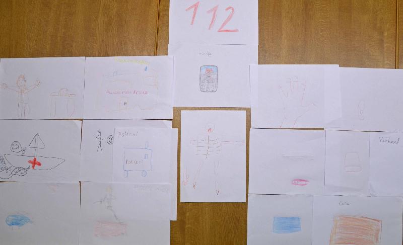 rettungskette-zeichnunger-kinder