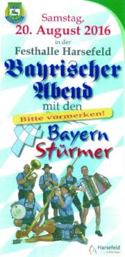 Flyer - Bayrischer Abend S1