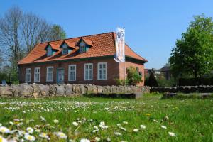 Museum und ehemaliges Kloster Harsefeld mit Gänseblümchen