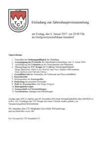 Issendorf Jahreshauptversammlung SV-Issendorf @ Dorfgemeinschaftshaus Issendorf   Nordrhein-Westfalen   Deutschland
