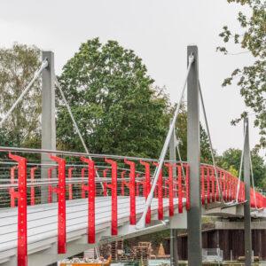 Fußgänger- und Radfahrerbrücke, Bild: Ingeneurbüro WKC